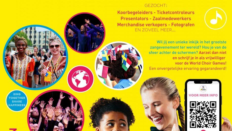 Kom de World Choir Games' mee-maken'!!